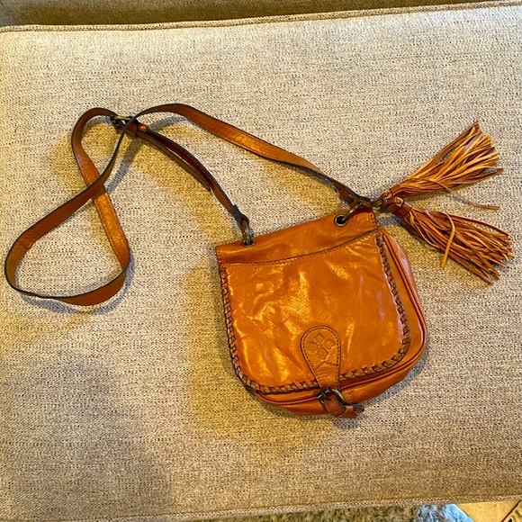 Patricia Nash genuine leather boho cross body
